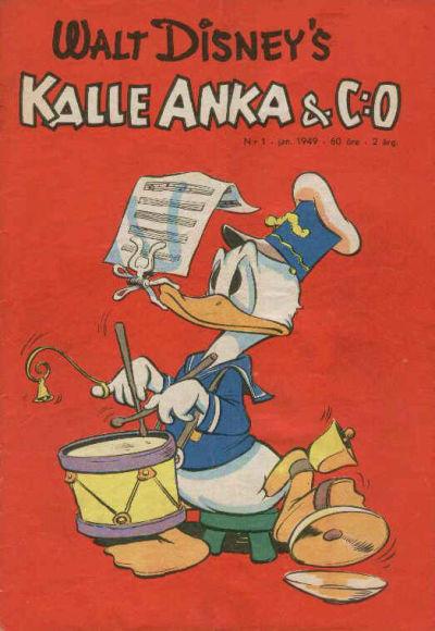 Cover for Kalle Anka & C:o (Richters Förlag AB, 1948 series) #1/1949