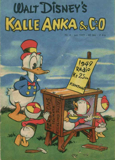 Cover for Kalle Anka & C:o (Richters Förlag AB, 1948 series) #6/1949