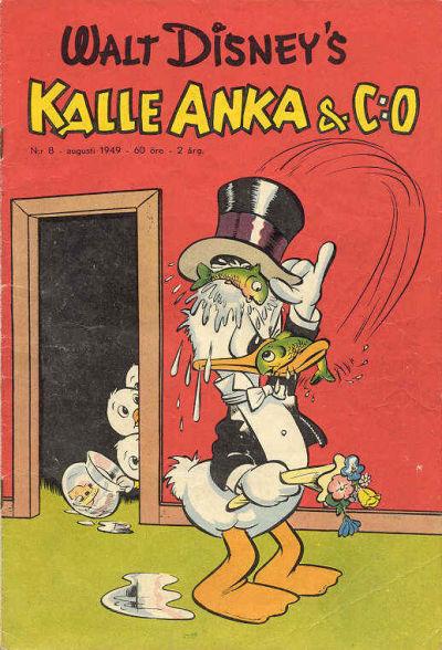 Cover for Kalle Anka & C:o (Richters Förlag AB, 1948 series) #8/1949