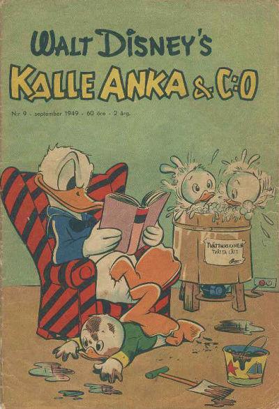 Cover for Kalle Anka & C:o (Richters Förlag AB, 1948 series) #9/1949
