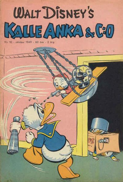 Cover for Kalle Anka & C:o (Richters Förlag AB, 1948 series) #10/1949