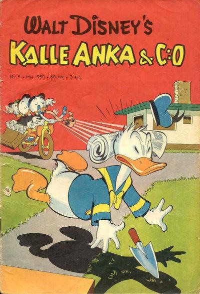 Cover for Kalle Anka & C:o (Richters Förlag AB, 1948 series) #5/1950