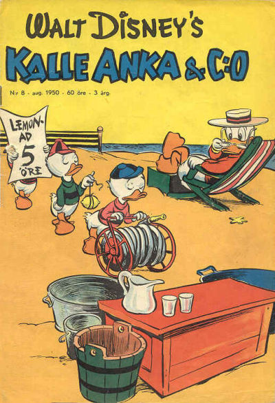 Cover for Kalle Anka & C:o (Richters Förlag AB, 1948 series) #8/1950