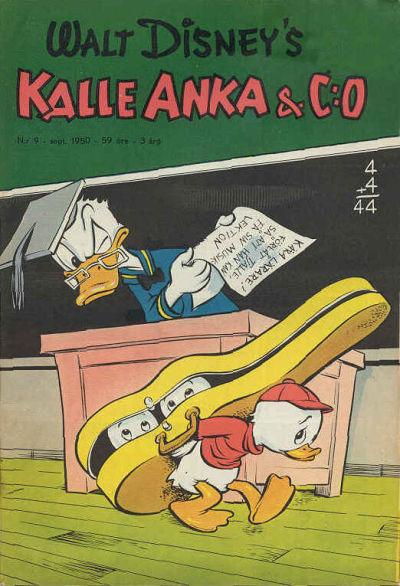 Cover for Kalle Anka & C:o (Richters Förlag AB, 1948 series) #9/1950