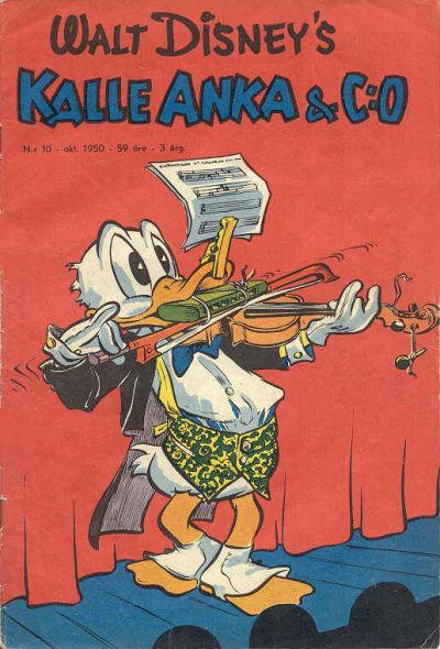 Cover for Kalle Anka & C:o (Richters Förlag AB, 1948 series) #10/1950