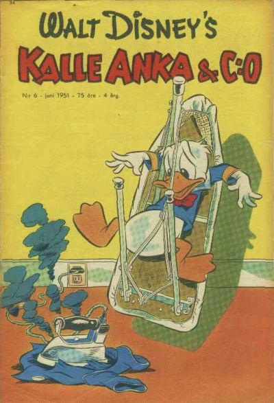 Cover for Kalle Anka & C:o (Richters Förlag AB, 1948 series) #6/1951