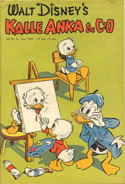 Cover for Kalle Anka & C:o (Richters Förlag AB, 1948 series) #5/1952