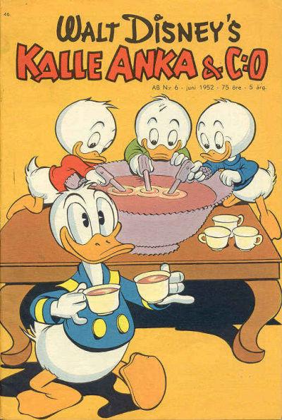 Cover for Kalle Anka & C:o (Richters Förlag AB, 1948 series) #6/1952