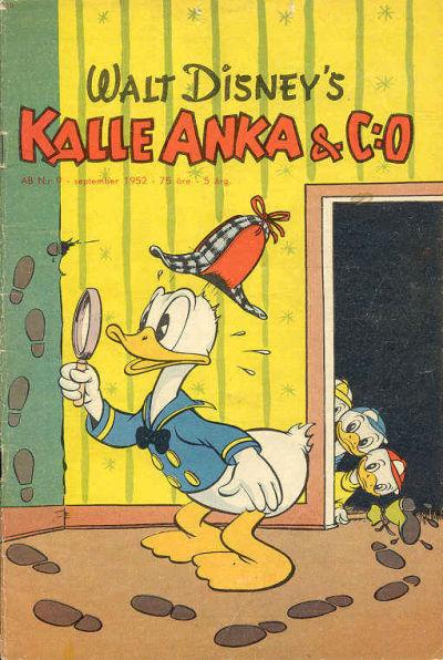 Cover for Kalle Anka & C:o (Richters Förlag AB, 1948 series) #9/1952