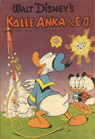 Cover for Kalle Anka & C:o (Richters Förlag AB, 1948 series) #1/1953