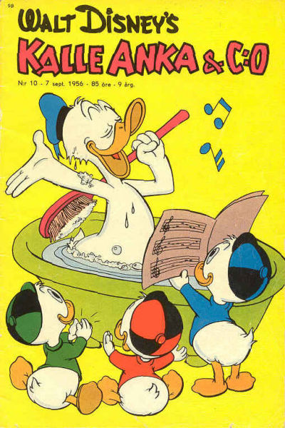 Cover for Kalle Anka & C:o (Richters Förlag AB, 1948 series) #10/1956
