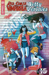 Cover Thumbnail for Red Sonja and Vampirella Meet Betty and Veronica (2019 series) #1 [Cover D Paulina Ganucheau]