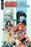 Cover Thumbnail for Red Sonja and Vampirella Meet Betty and Veronica (2019 series) #1 [Cover E Laura Braga]