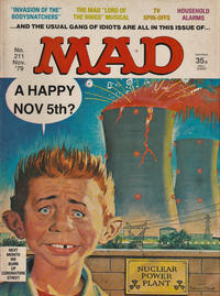 Cover Thumbnail for Mad (Thorpe & Porter, 1959 series) #211