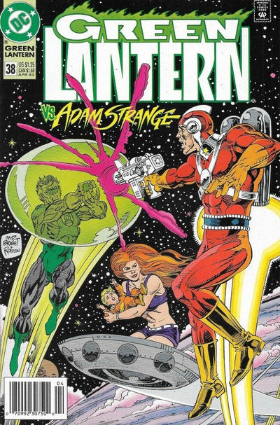 Cover for Green Lantern (DC, 1990 series) #38 [Newsstand]