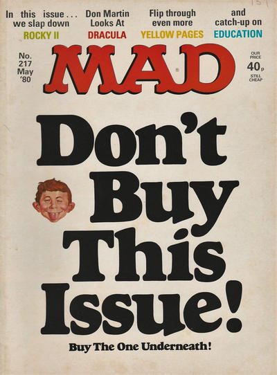 Cover for Mad (Thorpe & Porter, 1959 series) #217