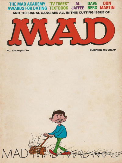 Cover for Mad (Thorpe & Porter, 1959 series) #220