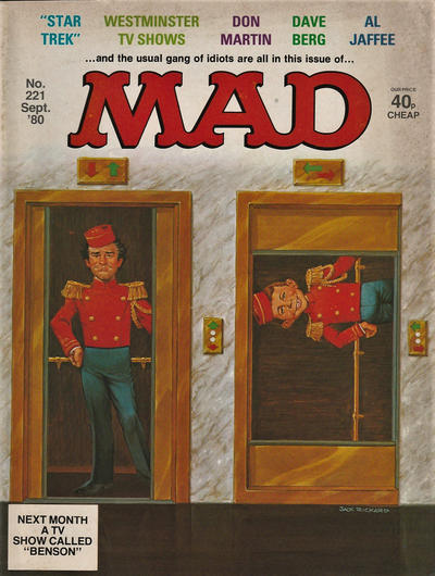 Cover for Mad (Thorpe & Porter, 1959 series) #221