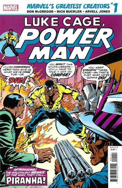 Cover for Marvel's Greatest Creators: Luke Cage, Power Man - Piranha! (Marvel, 2019 series) #1