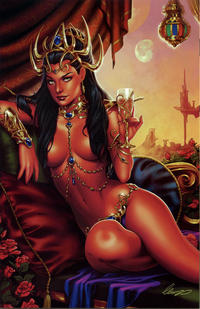 Cover for Dejah Thoris (Dynamite Entertainment, 2018 series) #0 [ComicXposure Exclusive 'Night Time Virgin Art' Cover]