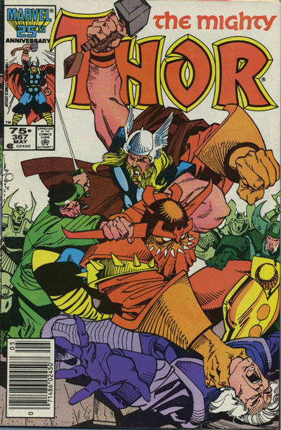 Cover for Thor (Marvel, 1966 series) #367 [Direct]