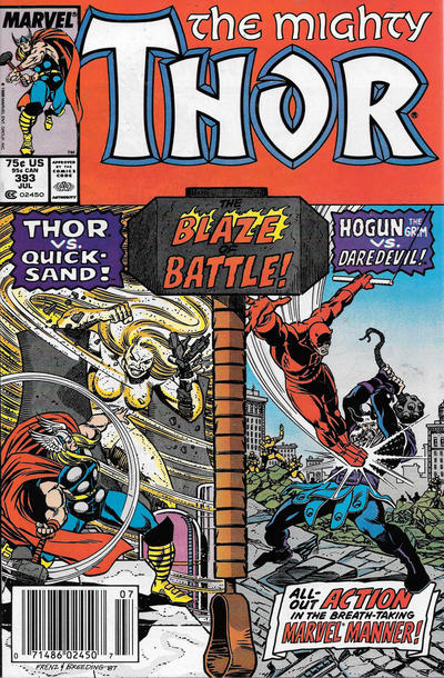 Cover for Thor (Marvel, 1966 series) #393 [Direct]