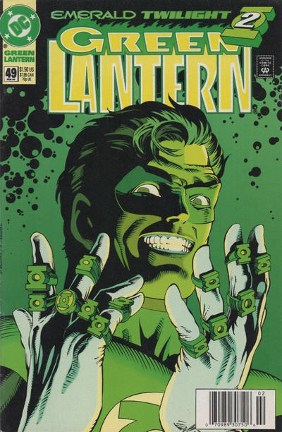 Cover for Green Lantern (DC, 1990 series) #49 [Newsstand]