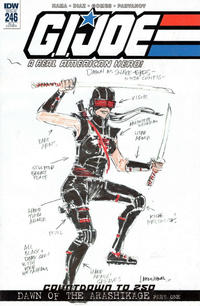 Cover Thumbnail for G.I. Joe: A Real American Hero (IDW, 2010 series) #246 [Cover RI-A - Larry Hama Sketch]
