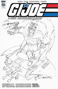 Cover Thumbnail for G.I. Joe: A Real American Hero (IDW, 2010 series) #254 [Cover RI - Larry Hama Sketch]