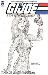 Cover Thumbnail for G.I. Joe: A Real American Hero (IDW, 2010 series) #252 [Cover RI - Larry Hama Sketch]