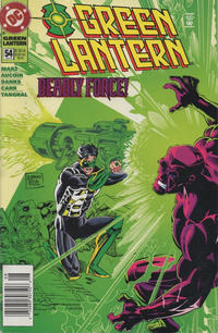 Cover Thumbnail for Green Lantern (DC, 1990 series) #54 [Newsstand]