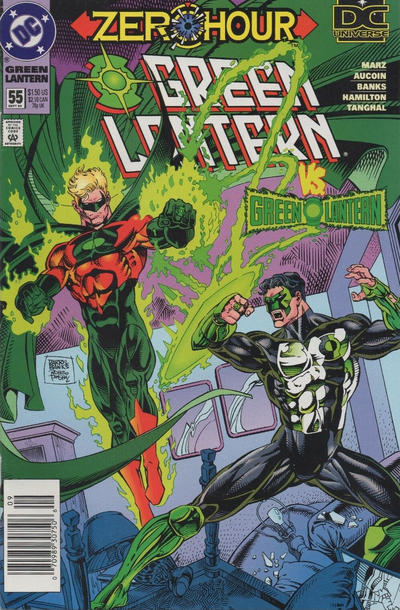 Cover for Green Lantern (DC, 1990 series) #55 [Newsstand]