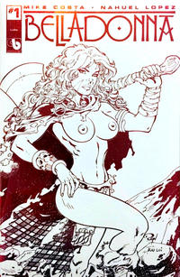 Cover Thumbnail for Belladonna (Avatar Press, 2015 series) #1 [Topless Red Foil Leather - Ron Adrian]