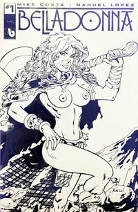 Cover Thumbnail for Belladonna (Avatar Press, 2015 series) #1 [Topless Blue Foil Leather - Ron Adrian]