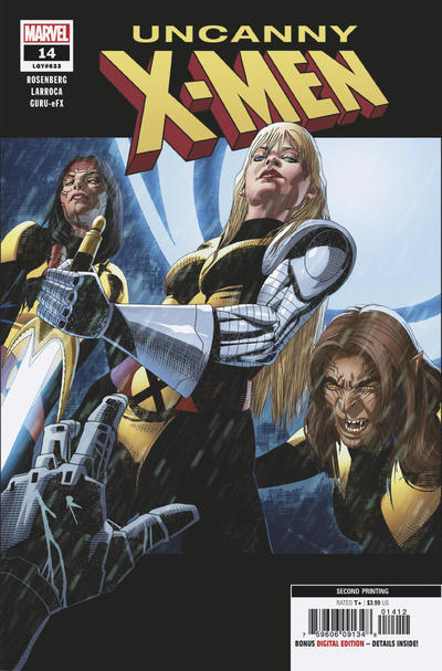 Cover for Uncanny X-Men (Marvel, 2019 series) #14 (633) [Second Printing - Salvador Larroca]