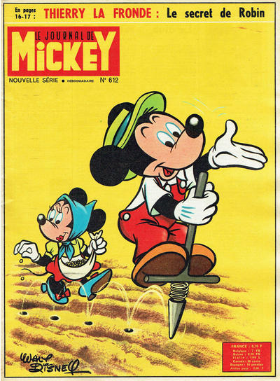 Cover for Le Journal de Mickey (Disney Hachette Presse, 1952 series) #612