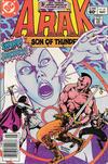 Cover for Arak / Son of Thunder (DC, 1981 series) #21 [Newsstand]