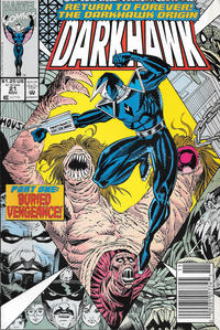 Cover Thumbnail for Darkhawk (Marvel, 1991 series) #21 [Newsstand]