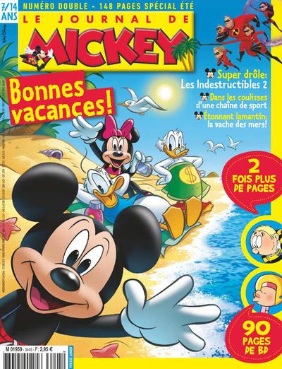 Cover for Le Journal de Mickey (Disney Hachette Presse, 1952 series) #3445-46
