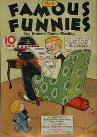 Cover Thumbnail for Famous Funnies (Eastern Color, 1934 series) #12