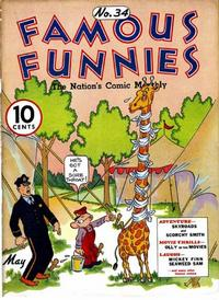 Cover Thumbnail for Famous Funnies (Eastern Color, 1934 series) #34