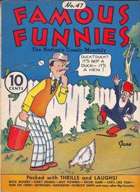 Cover Thumbnail for Famous Funnies (Eastern Color, 1934 series) #47