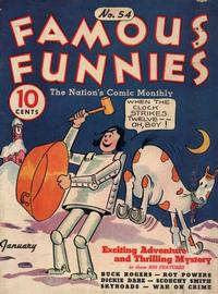 Cover Thumbnail for Famous Funnies (Eastern Color, 1934 series) #54