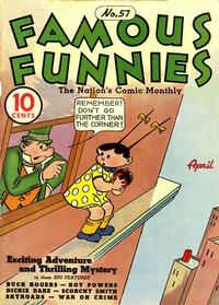 Cover Thumbnail for Famous Funnies (Eastern Color, 1934 series) #57