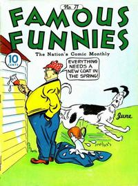 Cover Thumbnail for Famous Funnies (Eastern Color, 1934 series) #71