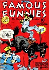 Cover Thumbnail for Famous Funnies (Eastern Color, 1934 series) #91