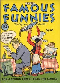 Cover Thumbnail for Famous Funnies (Eastern Color, 1934 series) #93