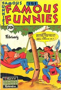 Cover Thumbnail for Famous Funnies (Eastern Color, 1934 series) #151