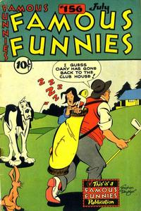 Cover Thumbnail for Famous Funnies (Eastern Color, 1934 series) #156