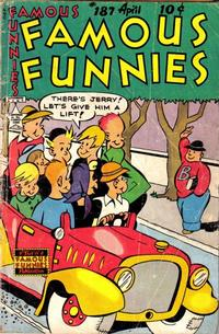 Cover Thumbnail for Famous Funnies (Eastern Color, 1934 series) #187
